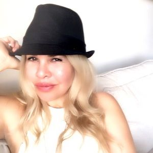 Levi's Black Cotton Fedora Hat